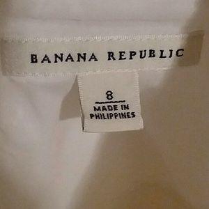 Banana republic strapless white dress